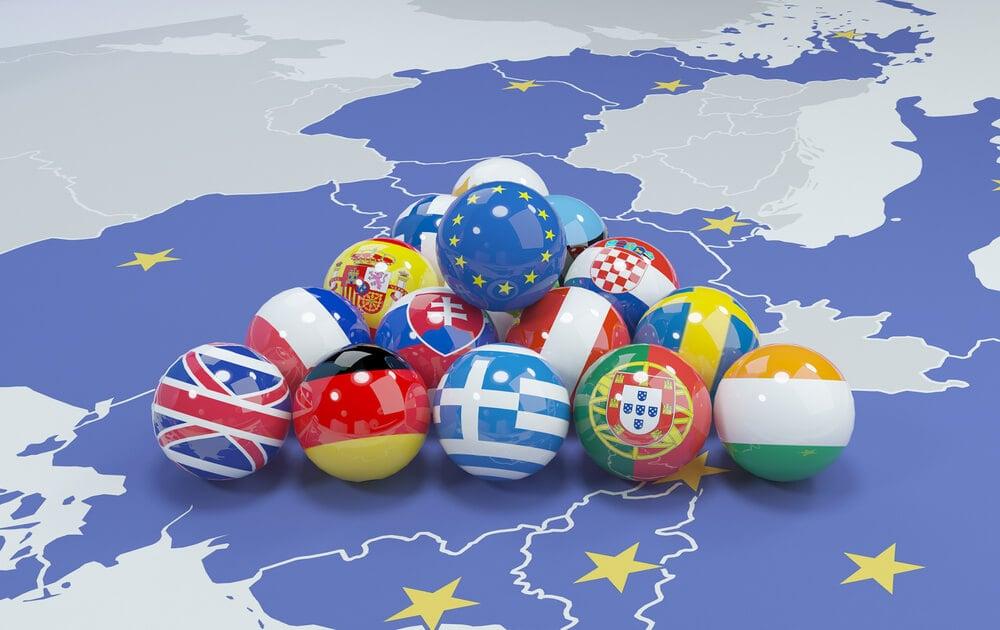 EU Countries flags